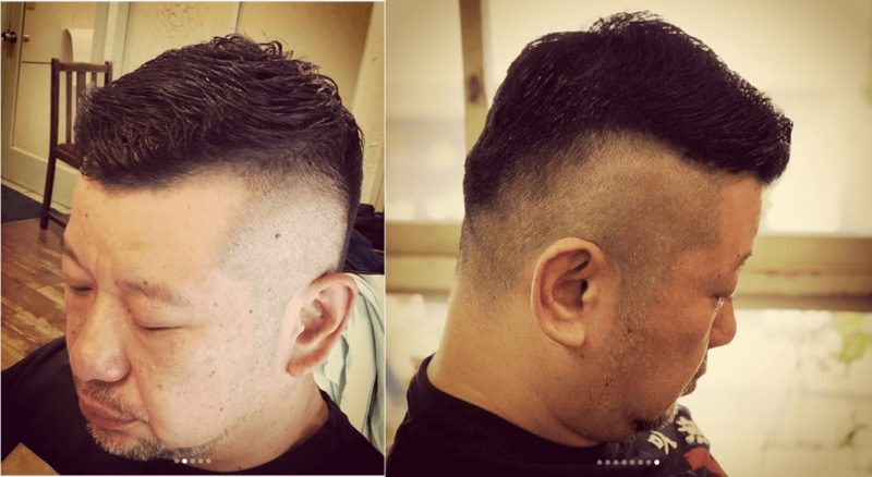 ケンコバの最新髪型:サイド